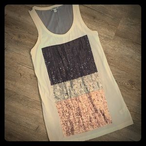 Express sequin tank- size small